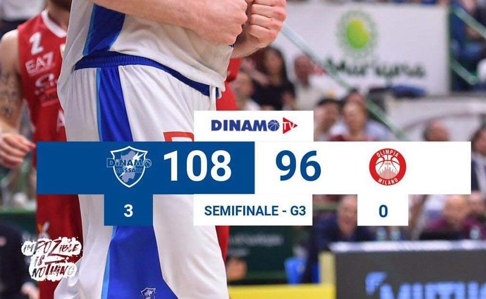 basket Dinamo Sassari vs Armani Milano