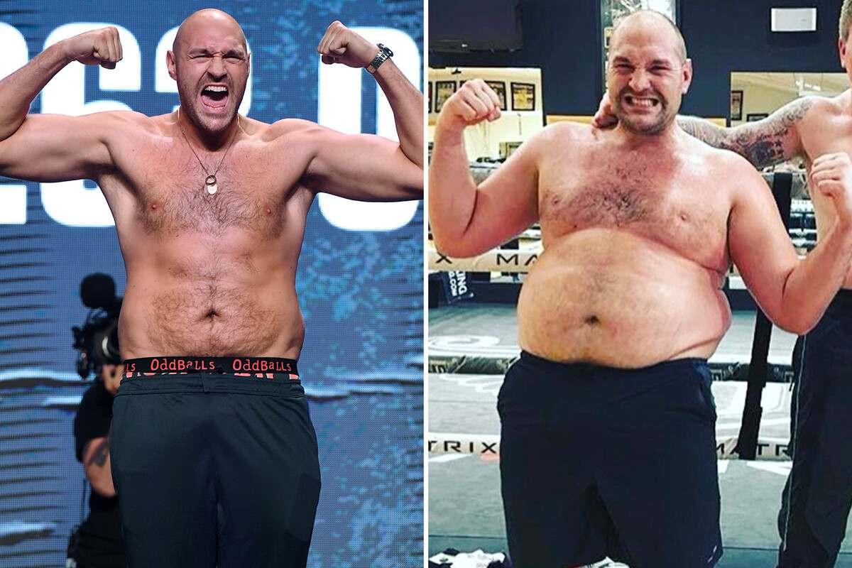 Tyson Fury prima e dopo